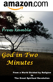 "Book Cover ""God in Two Minutes"" by Prem Kamble available in Amazon.com"