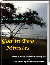 "Cover of my e-book ""God in Two Minutes"""